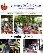 Click here to download October to November 2014 Newsletter