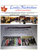 Click here to download April to May 2014 Newsletter