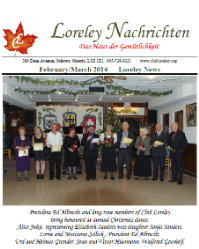 Click here to download February to March 2014 Newsletter